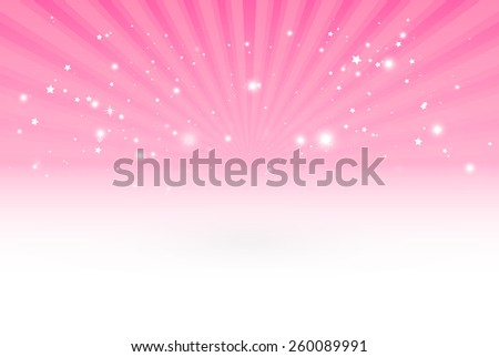 Glittering vector pink burst design background template - Vector space blast pink background illustration - stock vector