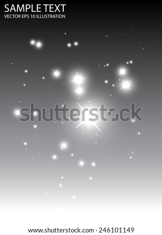 Glitters on abstract background vector template - Vector sparkles falling background illustration - stock vector