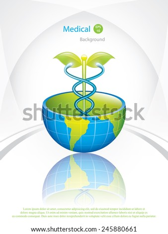 Global alternative medication.Vector - stock vector