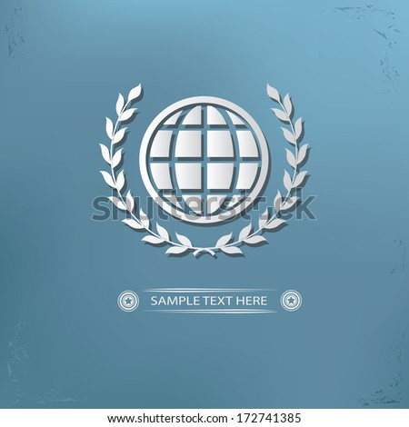 Global badge symbol,vector - stock vector