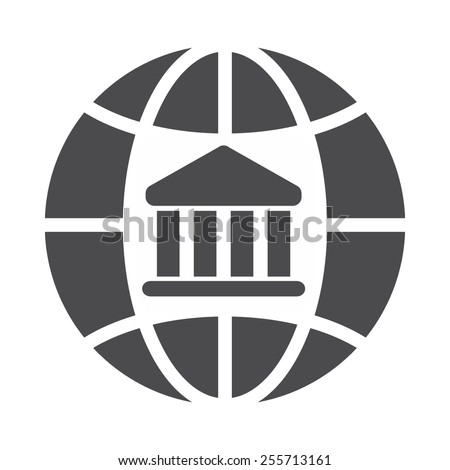 Global bank vector image to be used in web applications, mobile applications and print media. - stock vector