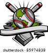 Global Baseball Vector Image Template - stock vector