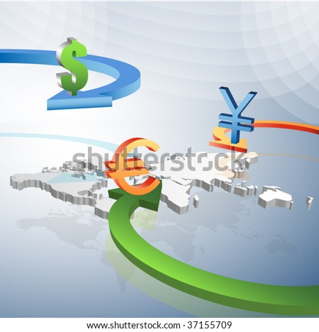 Global business concept - stock vector