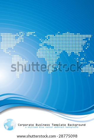 Global business. Vector. - stock vector