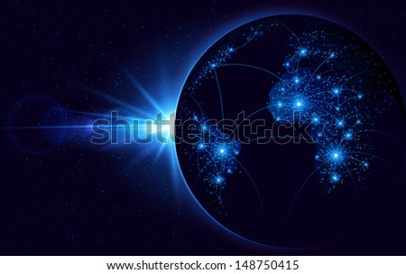 Global communication - stock vector