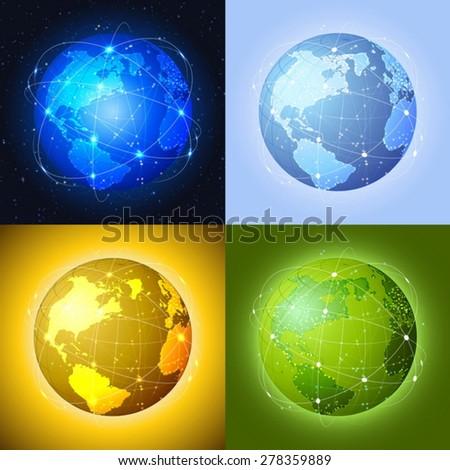 Global communication. - stock vector