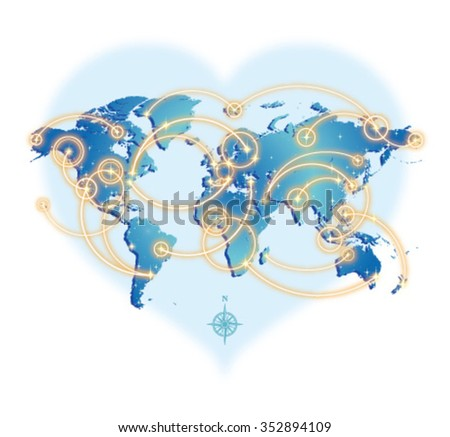 GLOBAL COMMUNICATION - stock vector