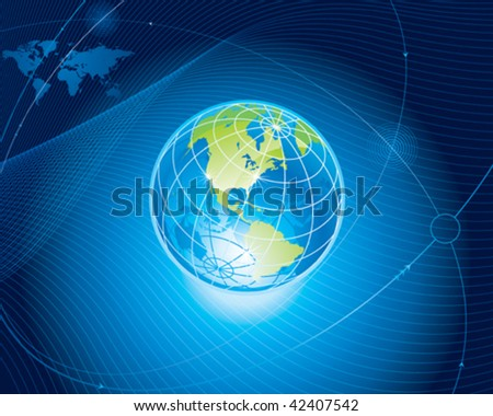 Global communication connection background. vector layered.