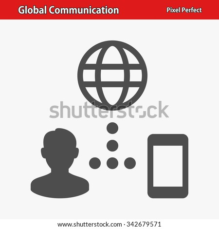Global Communication Icon. Professional, pixel perfect icon optimized for both large and small resolutions. EPS 8 format. - stock vector