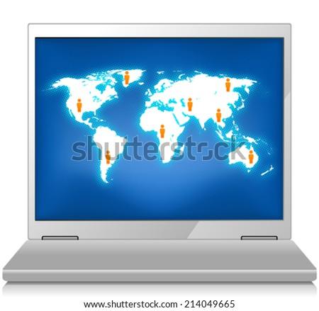 Global Concept - stock vector