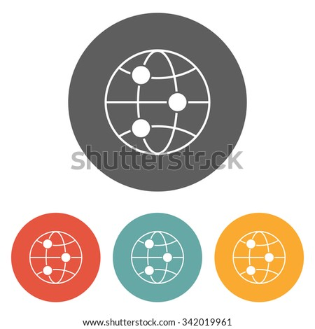 global connect icon - stock vector