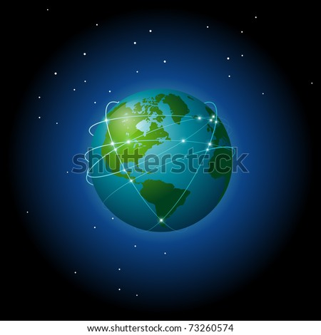 Global connections - stock vector