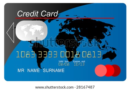 Global credit card vector - stock vector