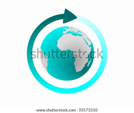 Global cycle - stock vector