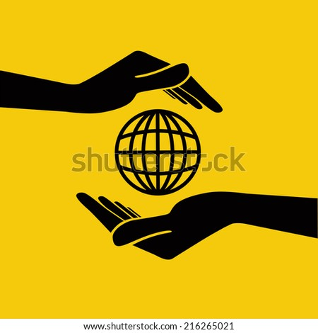 Global Earth Care concept. Vector Illustration. - stock vector