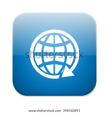 global earth communication icon - stock vector