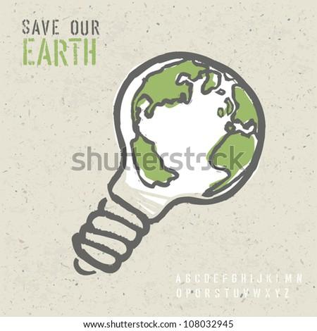Global ecology concept. Vector, EPS10 - stock vector