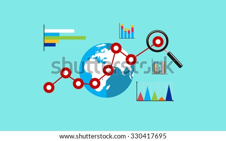 Global economy. Business growth. Business analytic. Business background. - stock vector