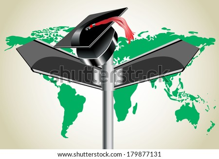 Global education concept - stock vector