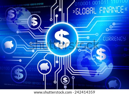 Global Finance dollar currency vector