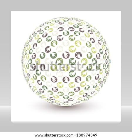 Global hands vector.  - stock vector