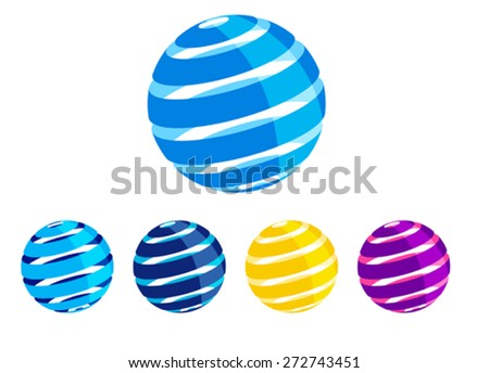 Global Icons Symbol - Abstract Icons Concept - stock vector
