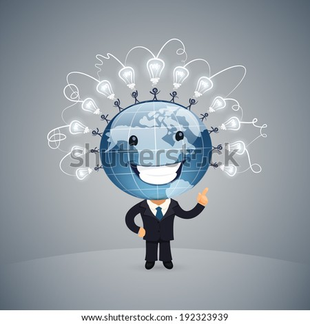 Global Idea Vector illustration. In the EPS file, each element is grouped separately. - stock vector