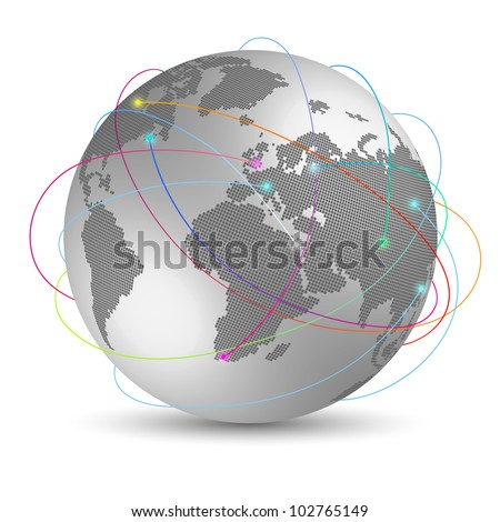 Global internet concept - stock vector