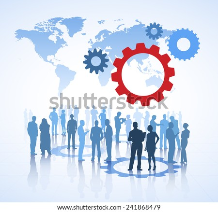 Global Leadership Communication - stock vector