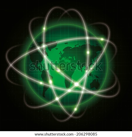 global network. abstract illustration. vector eps10 - stock vector