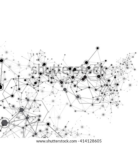 Global Network Background - Vector Illustration, Graphic Design Useful For Your Design  - stock vector