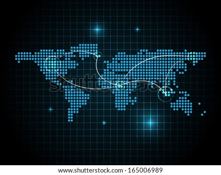 Global network connection concept - stock vector