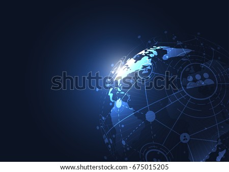 Drawing Lines In Mappoint : World map point europe vector illustration composition