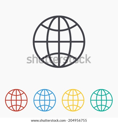 Global network icon , Vector illustration
