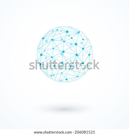 Global network icon vector illustration - stock vector