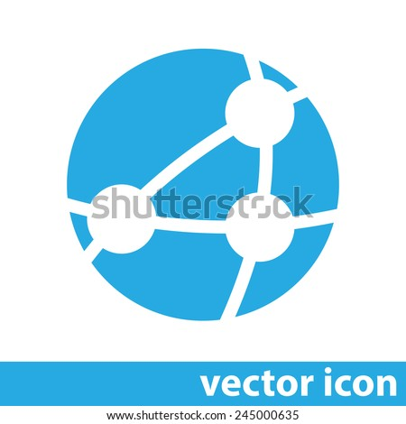 global network vector icon - stock vector