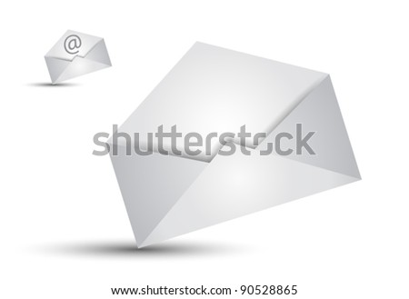 Global Shipping and Communication Email concept illustations - stock vector