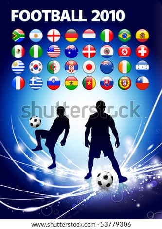 Global Soccer Event on Abstract Light Background Original Illustration