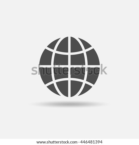 global solution icon outline style vectorのベクター画像素材