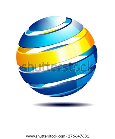 Global Sphere, Icon Symbol - Abstract Icons Concept