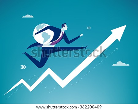 Global Success. Business concept - stock vector