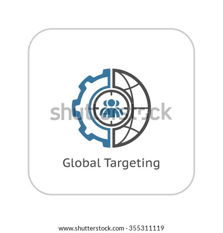List goals icon business concept flat stock vector for Global design firm