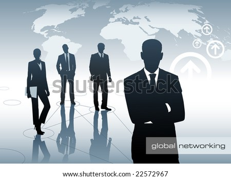 global team - stock vector
