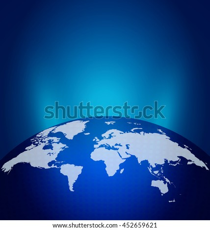 Global technology network with dot digital world map, vector illustration