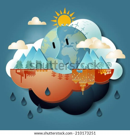 Global Warming - stock vector