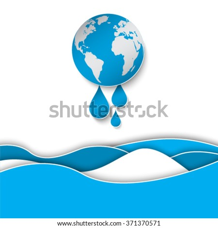 Global warming concept - stock vector