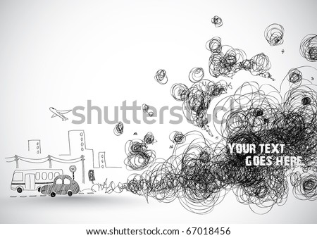 Global Warming Illustration - stock vector