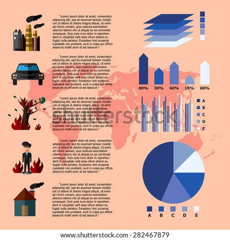Global Warming Infographics. Vector Illustration - stock vector