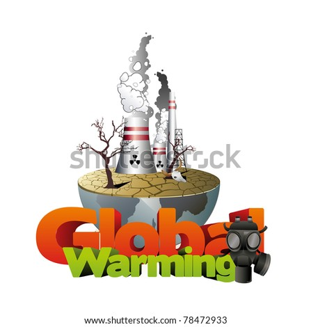global warming vector illustration - stock vector
