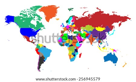 Global World Map - Separable Borders - All Countries Included